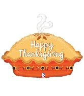 "30"" Foil Shape Balloon Thanksgiving Pie"