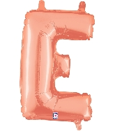 """14"""" Airfill with Valve Only Letter E Rose Gold Balloon"""