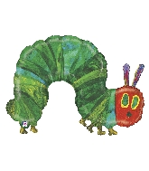 """43"""" Foil Balloon Licensed Hungry Caterpillar"""