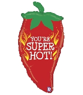 "32"" Foil Shape Super Hot Chili Pepper Balloon"