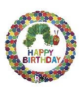 "18"" The Very Hungry Caterpillar Happy Birthday"