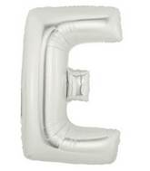 "7"" Airfill (requires heat sealing) Letter Balloons E Silver"