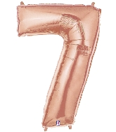 "40"" Foil Shape Megaloon Balloon Number 7 Rose Gold"