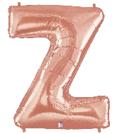"40"" Foil Shape Megaloon Balloon Letter Z Rose Gold"