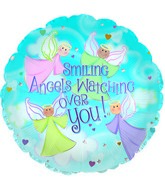 """18"""" Smiling Angels Watch Foil Balloon"""