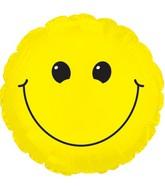 """9"""" Yellow Smiley Face Self Sealing Valve Foil Balloon"""