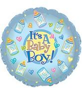 "9"" Baby Boy Bottles Self Sealing Valve Foil Balloon"