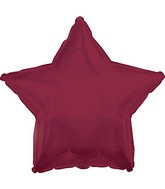 "9"" Airfill Only Maroon Star Foil Balloon"