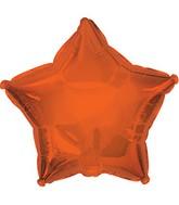 "7"" Sunkissed Orange Star Self Sealing Valve Foil Balloon"