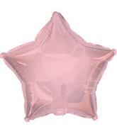 "7"" Pale Pink Star Self Sealing Valve Foil Balloon"