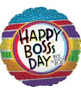 """17"""" Best Boss Stripes Balloon"""