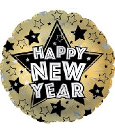 "17"" New Year Stars Balloon"
