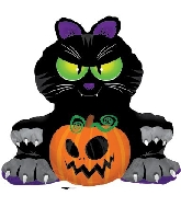 "32.5"" X37"" Big Black Cat Balloon"