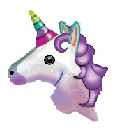 "24"" Emoji Emoticon Unicorn Balloon"