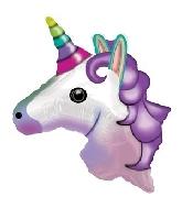 "24"" Emoji Emoticon Unicorn Balloon"