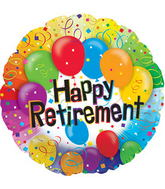 "17"" Happy Retirement Balloon Packaged"