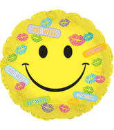 """17"""" Get Well Bandaids & Kisses Balloon Packaged"""
