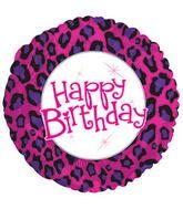 "17"" Happy Birthday Animal Print Packaged"