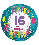 """17"""" Happy 16 Birthday Streamers Packaged"""