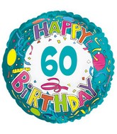 "18"" Happy 60 Birthday Streamers"