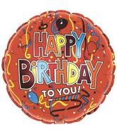 "18""Happy Birthday to You Festive Red"