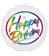 "17"" Happy Birthday Script Packaged"
