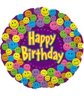 """17"""" Happy Birthday Smiley Faces Packaged"""