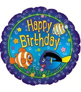 """17"""" Happy Birthday Fish Packaged"""