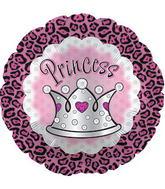 """17"""" Cheetah Princess Crown Balloon Packaged"""