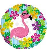 "17"" Flamingo Luau Balloon Packaged"