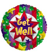 """18"""" Get Well Colorful Burst"""