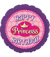 "17"" Happy Birthday Princess Pink Pearls Packaged"