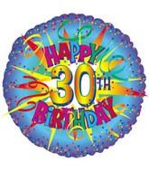 """18"""" Happy Birthday 30th Burst"""
