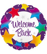 "17"" Welcome Back Rainbow Stars Packaged"