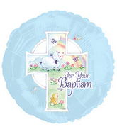 "17"" Blue Baptism Balloon"