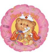 "9"" Airfill Get Well Nurse Bear M36"