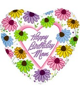 "18"" Happy Birthday Mom Daises"