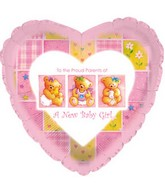 """9"""" Airfill Baby Girl Patchwork M86"""