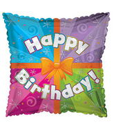 """17"""" Happy Birthday Day Colorful Present Packaged"""