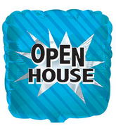 """17"""" Open House Square Balloon Packaged"""