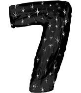"""38"""" Black Sparkle Seven Jumbo Number Balloon"""