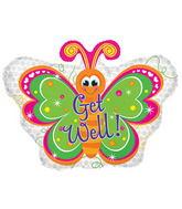 """22"""" Get Well Butterfly Balloon"""