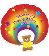 """31"""" Feel Better Soon Rainbow Bear"""