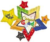 """34"""" Congrats Grad Multi Stars (B5)"""