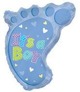 """22"""" It's A Boy Foot Shape Balloon"""