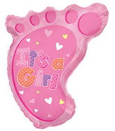 """22"""" It's A Girl Foot Shape Balloon"""
