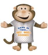 """36"""" Get Well Soon Monkey Balloon"""