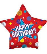 "17"" Happy Birthday Day Dynamic Star Packaged"