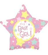"17"" It's a Baby Girl Many Stars Packaged"