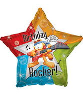 "17"" Garfield Rockin Happy Birthday Day Balloon"